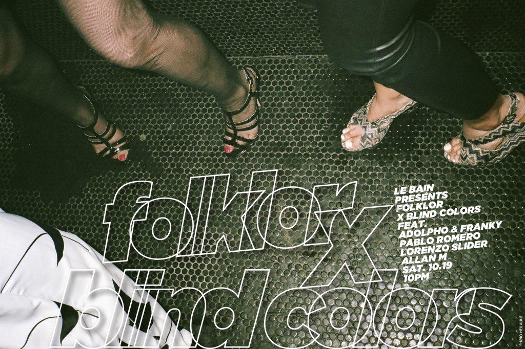 Folklor X Blind Colors - Flyer front
