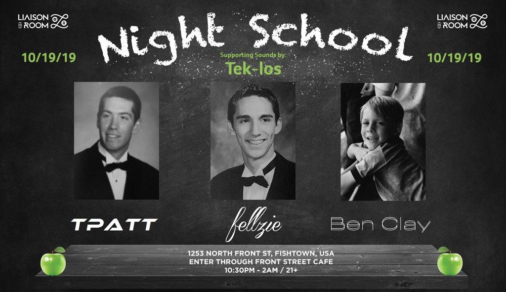 Night School - Flyer front