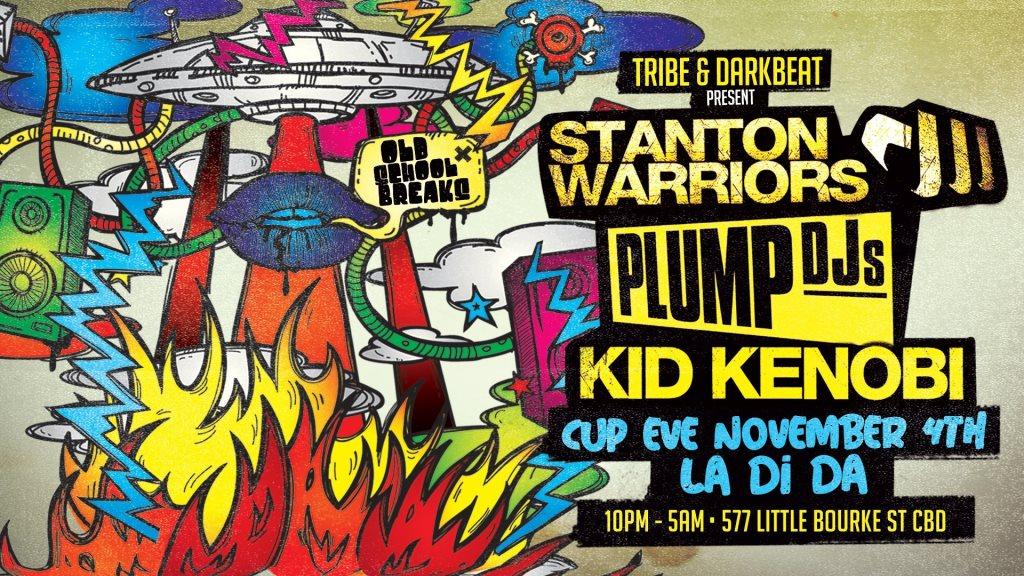 Darkbeat & Tribe with Stanton Warriors, Plump Djs & Kid Kenobi - Flyer front