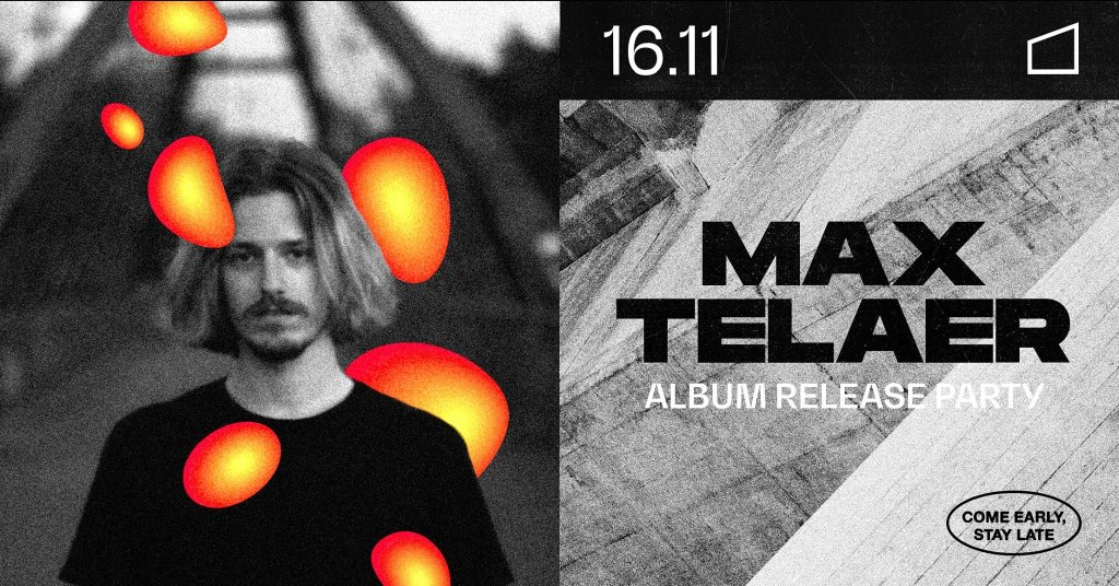 Max Telaer - Album Release Party - Flyer front