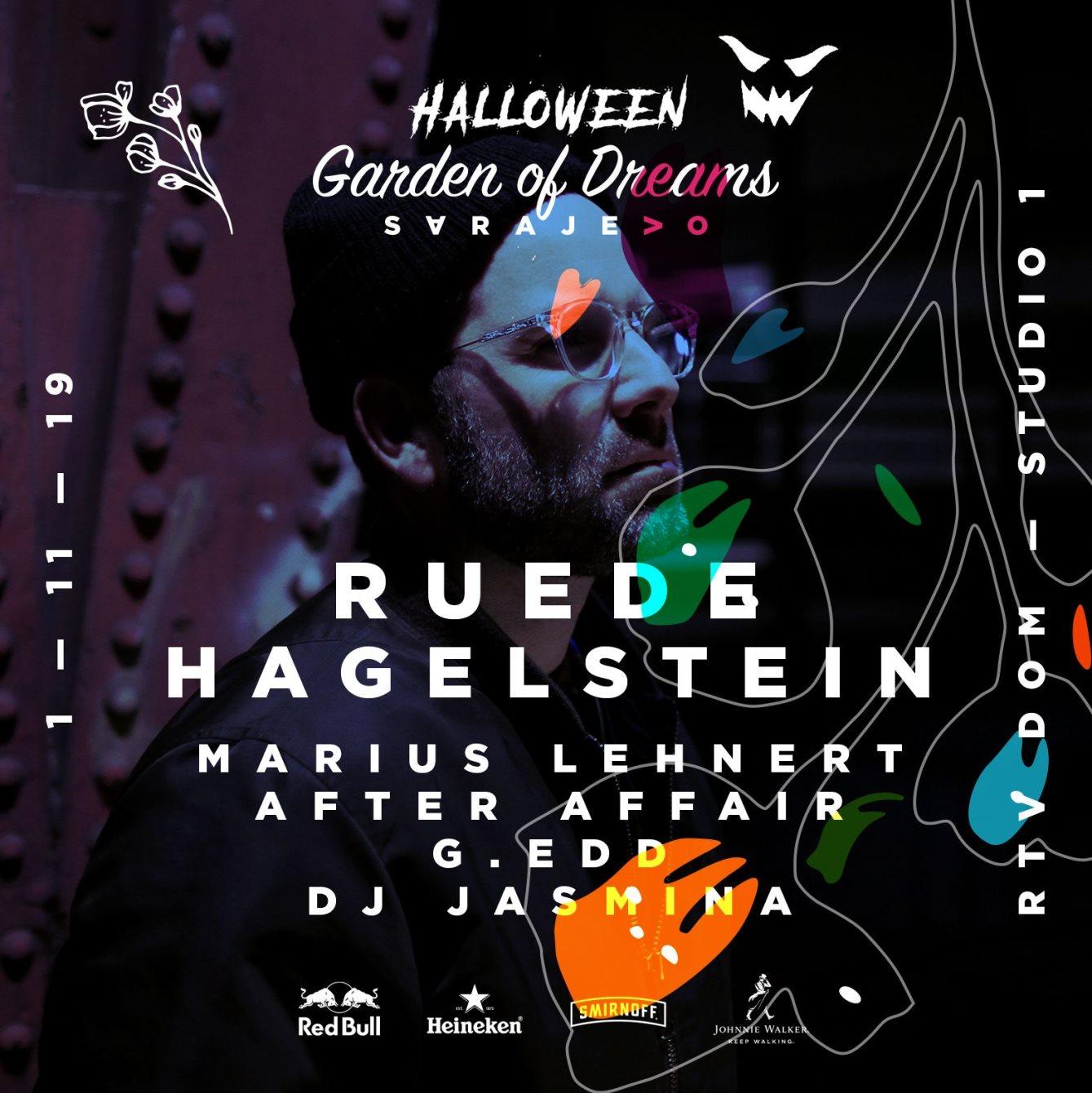 Garden of Dreams with Ruede Hagelstein, Sarajevo - Flyer front