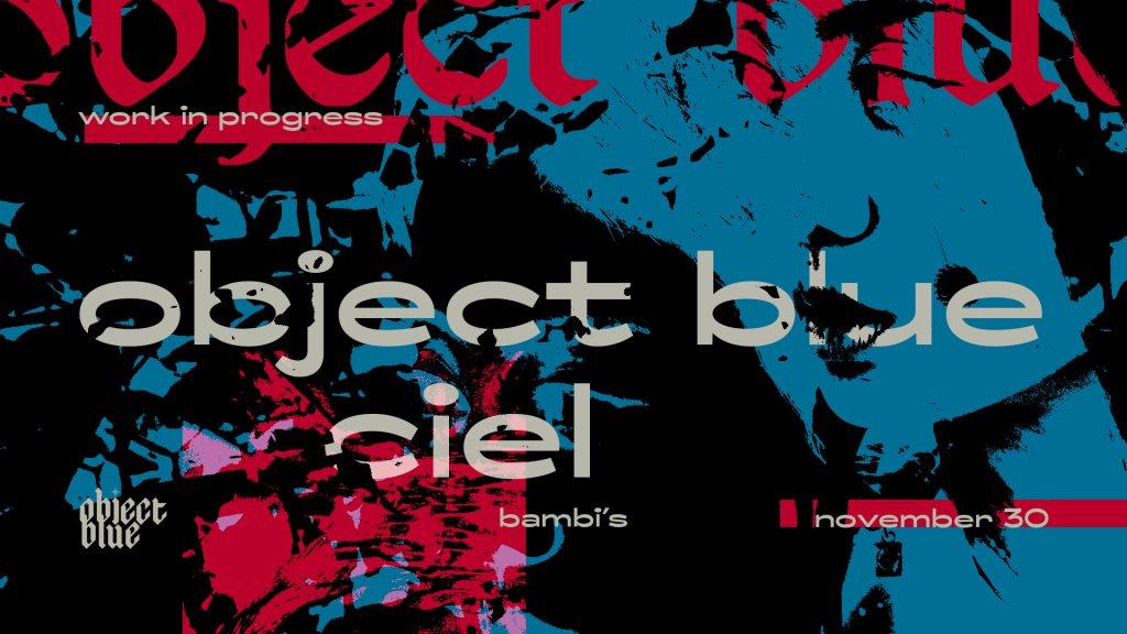 Work in Progress Invites Object Blue (Tobago Tracks, UK) - Flyer front