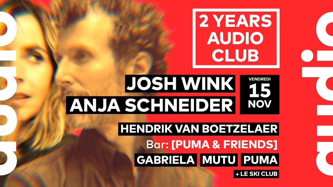 2 Years Audio // Josh Wink • Anja Schneider • Hendrik Van Boetzelaer • Gabriela • Mutu • Pum - Flyer front
