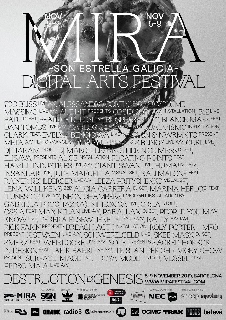 Mira Festival 2019 - Flyer front