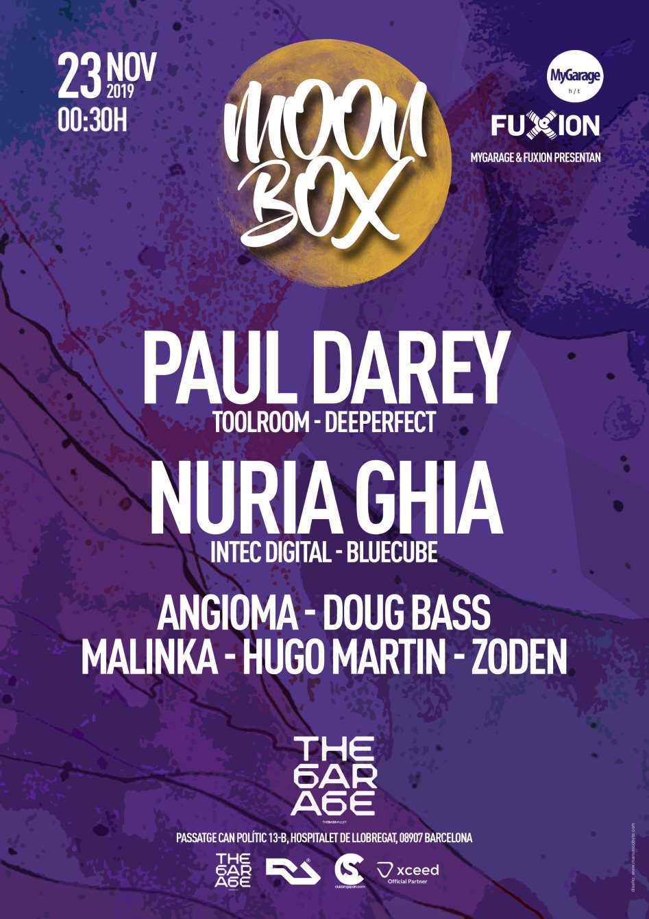 Moon BOX at The Garage Of The Bass Valley - Flyer back