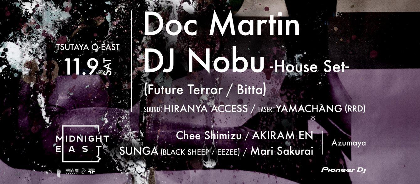 - Doc Martin × DJ Nobu - - Flyer front