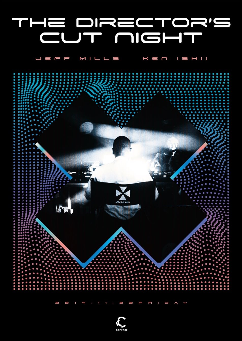 Jeff Mills - The Director's Cut Night - - Flyer front
