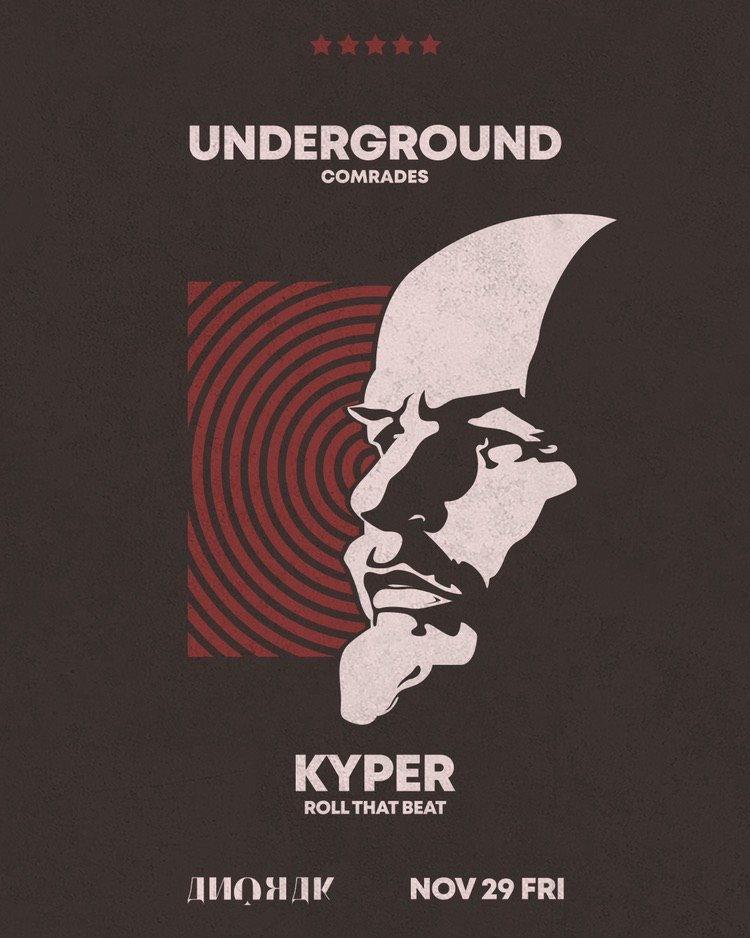 Underground Comrades vol.2 Kyper - Flyer front