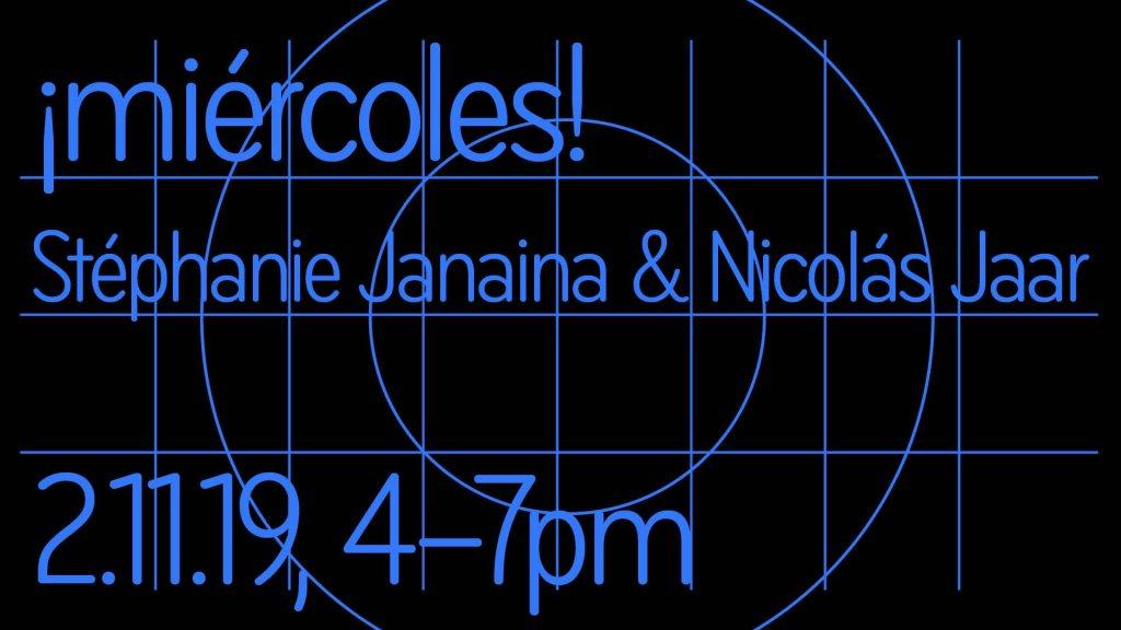 ¡miércoles! / Stéphanie Janaina & Nicolás Jaar - Flyer front