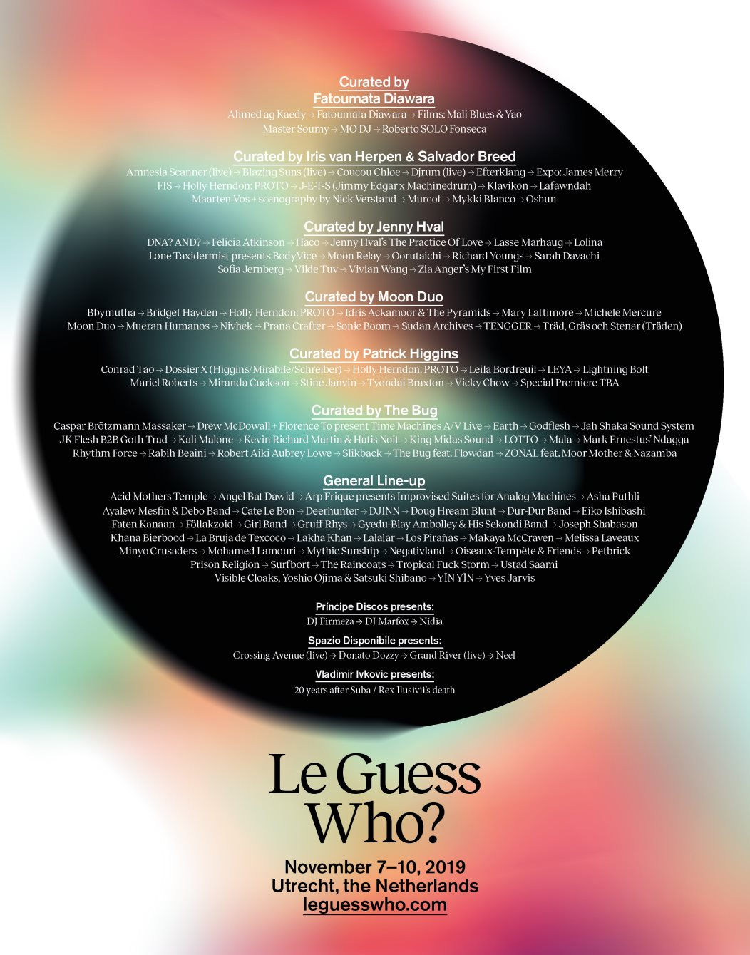 Le Guess Who? 2019 - Flyer front