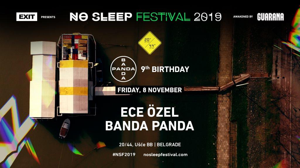 No Sleep x Banda Panda 9th Birthday - Flyer front