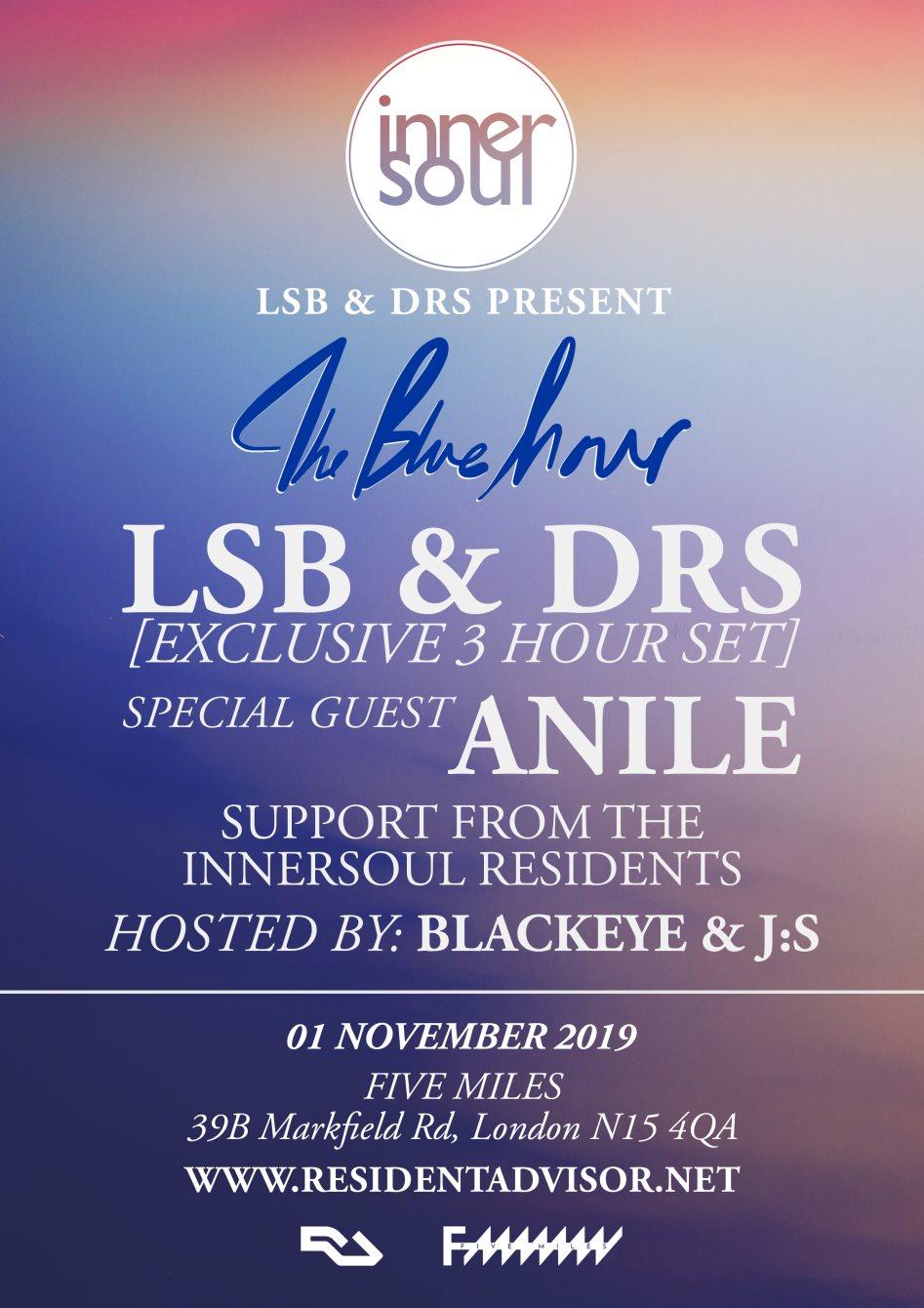 LSB & DRS present: The Blue Hour - Flyer back