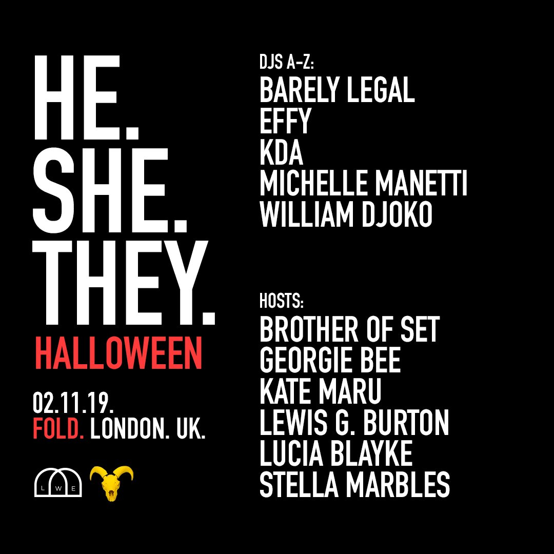 He.She.They. Halloween - Flyer front