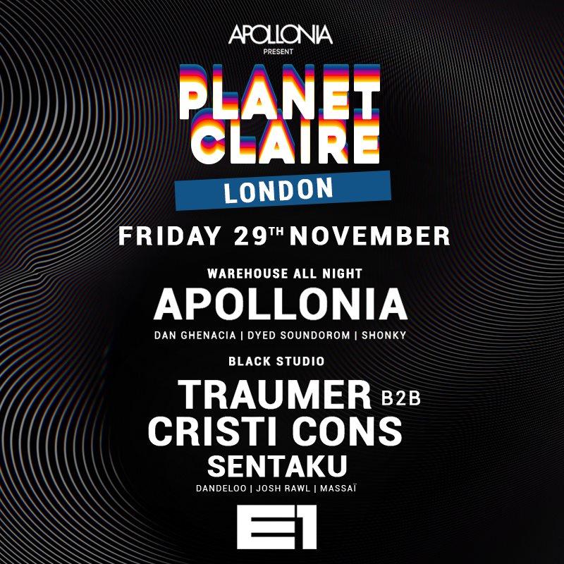 Apollonia present: Planet Claire - Cristi Cons & Traumer - Flyer back