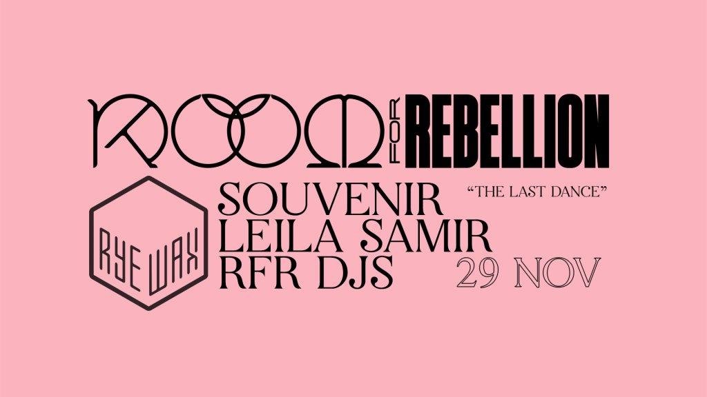 Room for Rebellion: Souvenir & Leila Samir - Flyer front