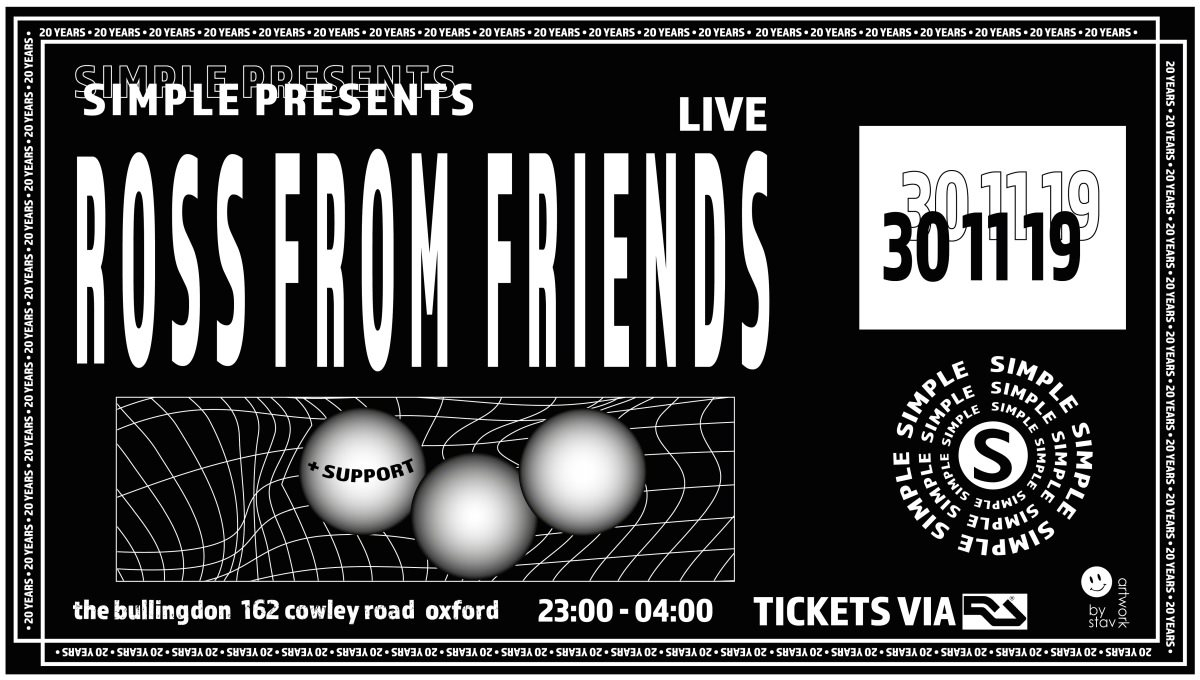 Simple presents Ross From Friends (Live) - Flyer front