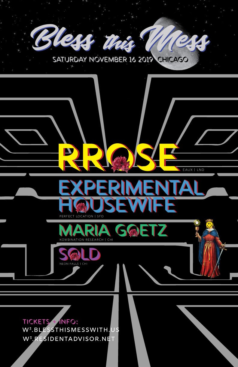 Bless This Mess with Rrose & Experimental Housewife - Flyer front