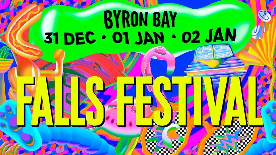 Falls Festival Byron Bay 2019/20 - Flyer front