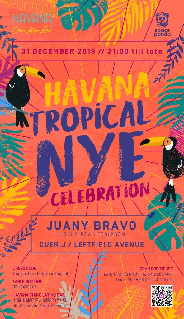 Havana Tropical NYE w. Juany Bravo (US) - Flyer front