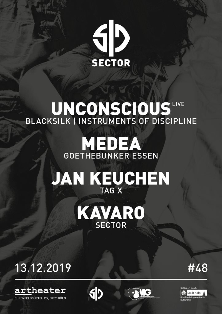 Sector with Unconscious - Live - Flyer front