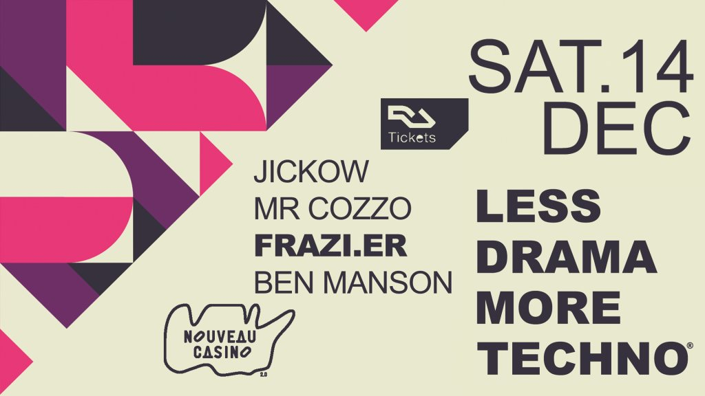 Less Drama More Techno #17 - Flyer front