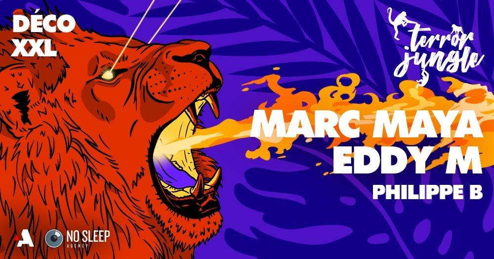 Terror Jungle - Marc Maya, Eddy M • Warehouse Nantes - Flyer front