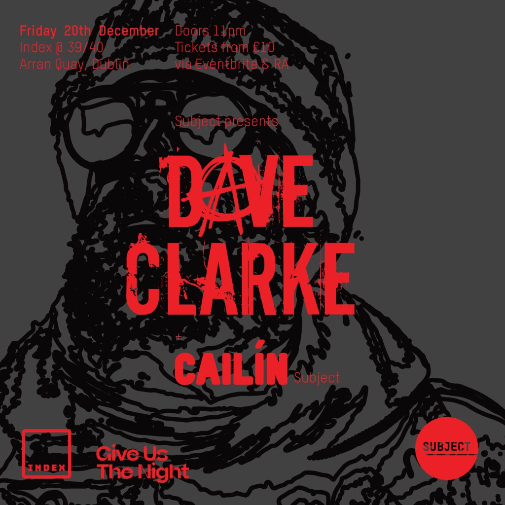 Dave Clarke & Cailin - Flyer front