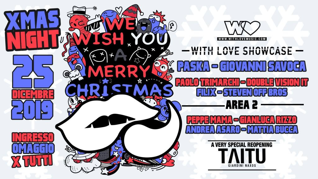 25 Dicembre - with Love Showcase at Reopening Taitu' - Flyer front