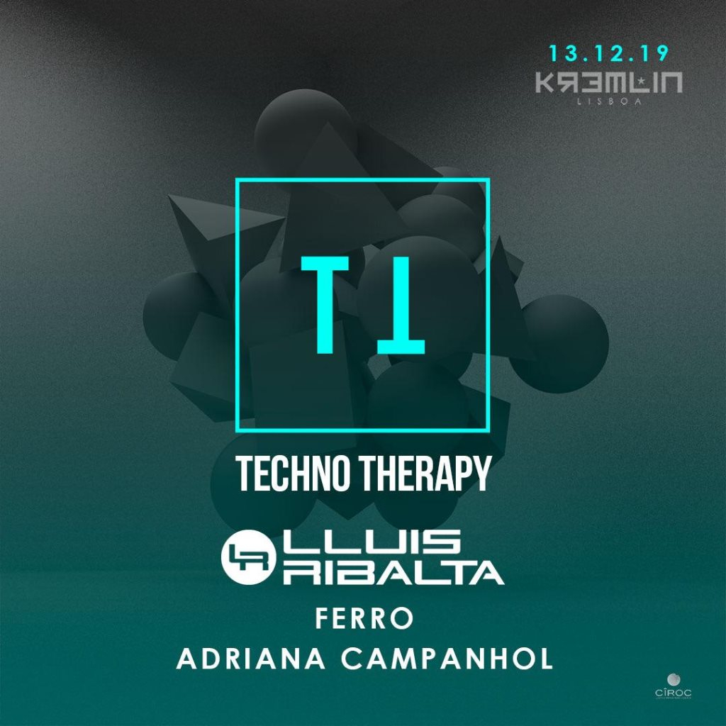 Techno Therapy with Lluis Ribalta - Flyer front