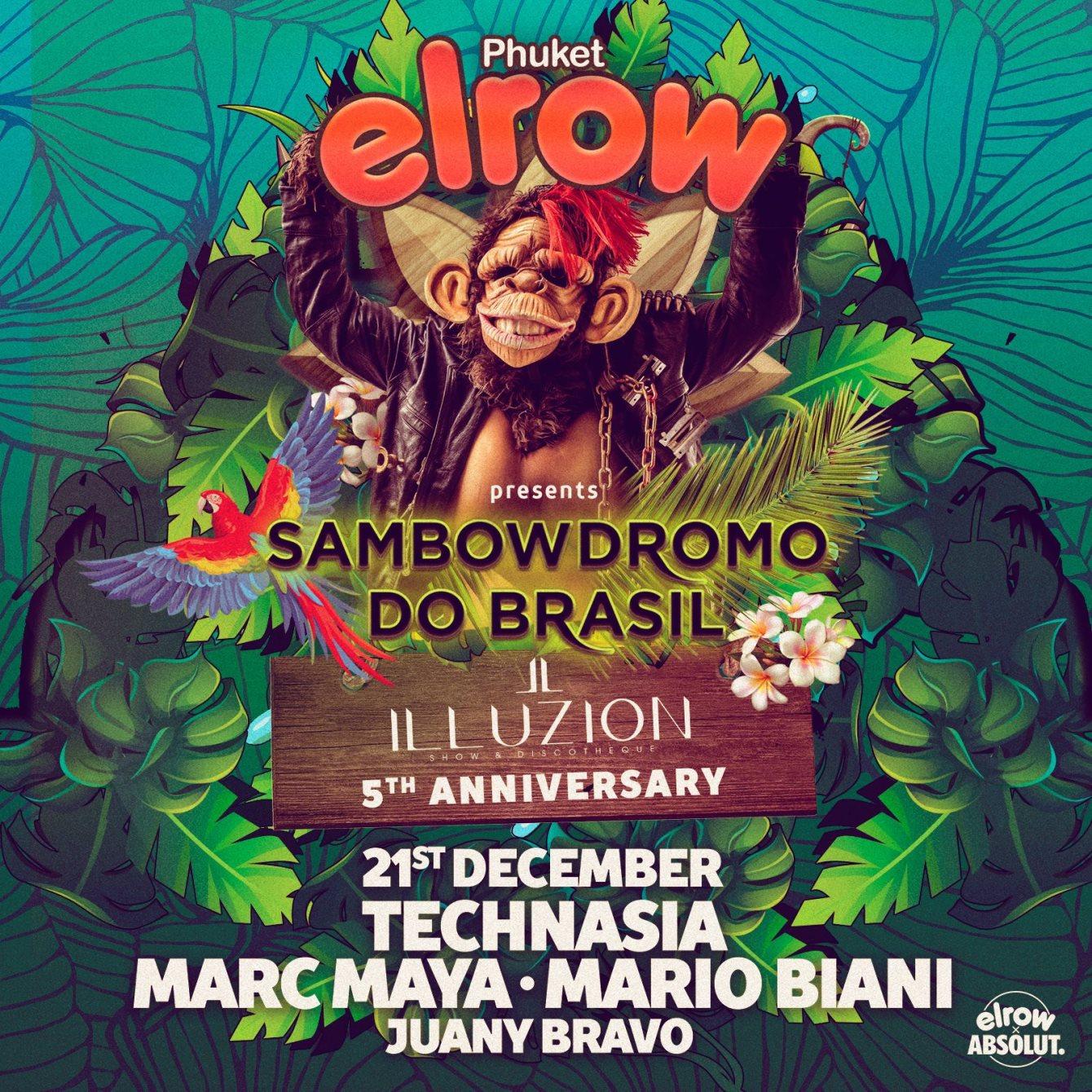 elrow Phuket - Sambowdromo do Brasil - Flyer front