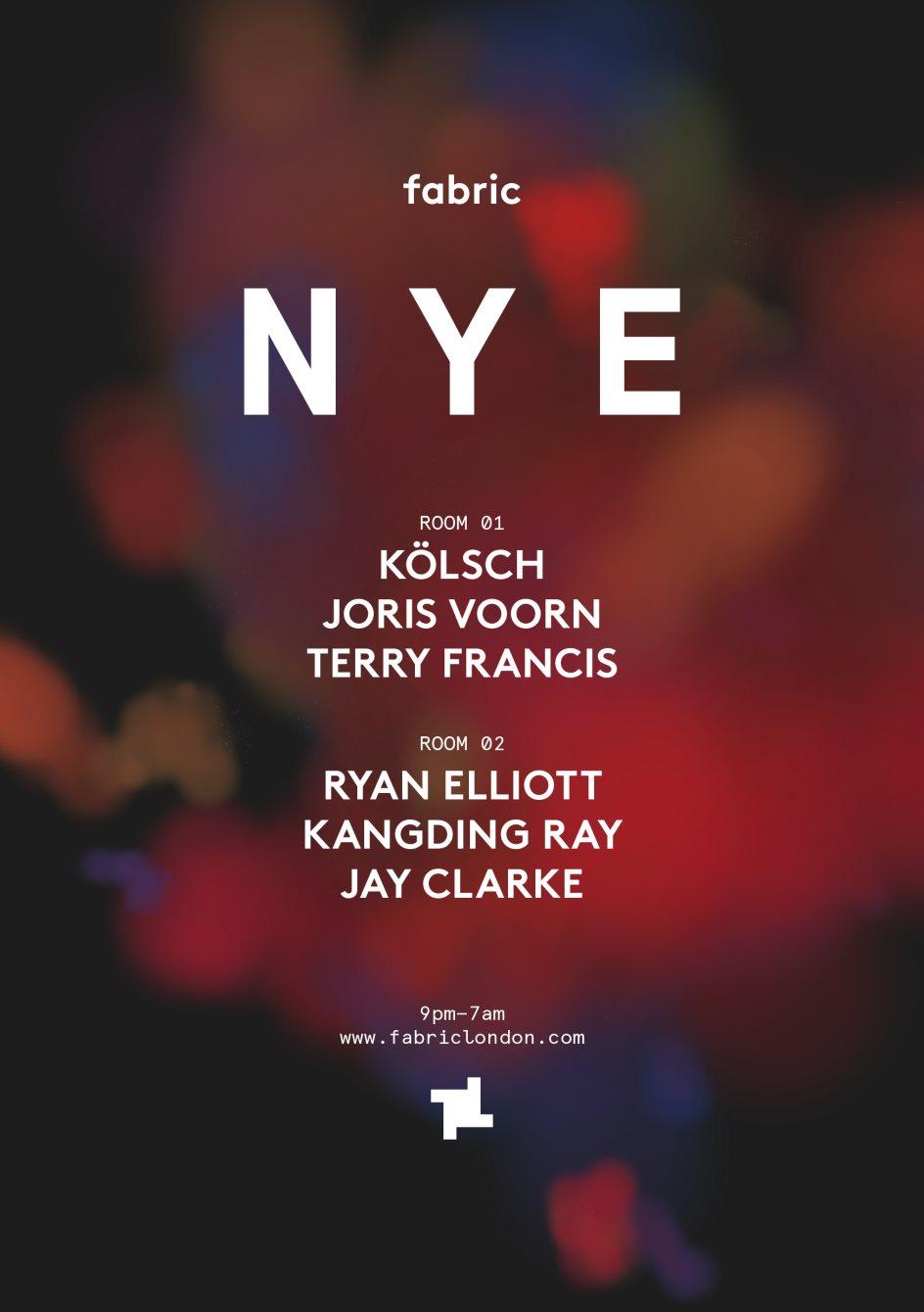 fabric NYE 2019: Kölsch, Joris Voorn & Ryan Elliott - Flyer back