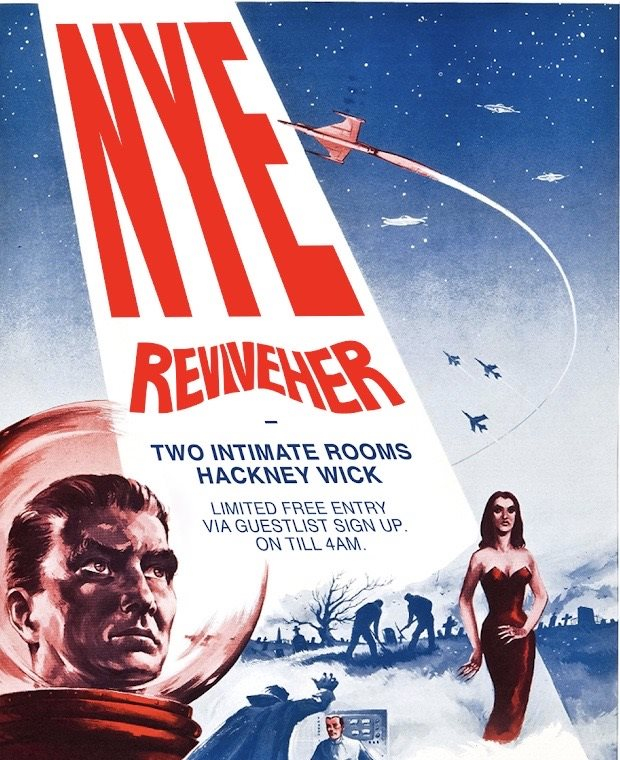 REVIVEHER Rsvp NYE Party IN The Wick - Flyer front