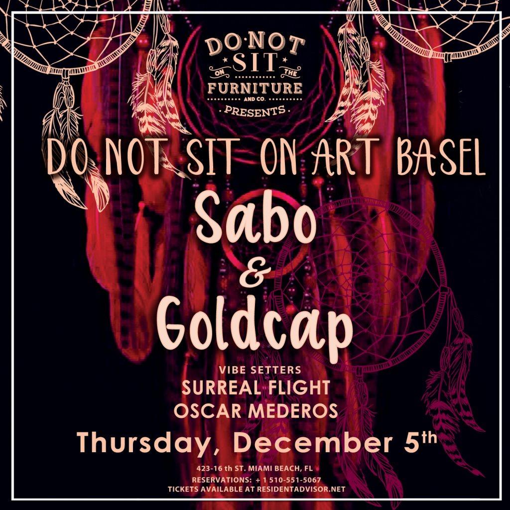 Sabo & Goldcap [Art Basel Edition] - Flyer front