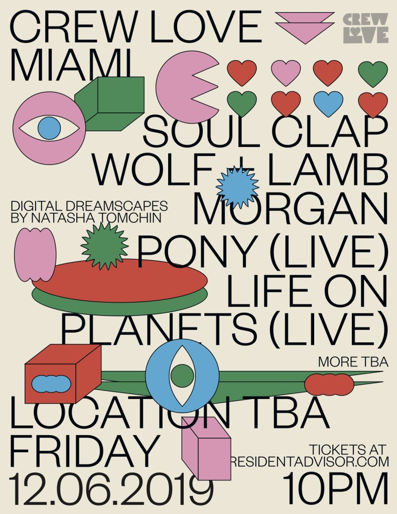 Crew Love Miami with Soul Clap, Wolf + Lamb, Life on Planets and More - Flyer front
