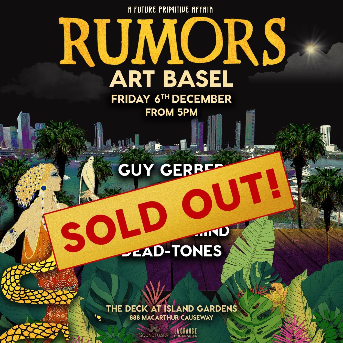 Rumors Art Basel 2019 - Flyer front