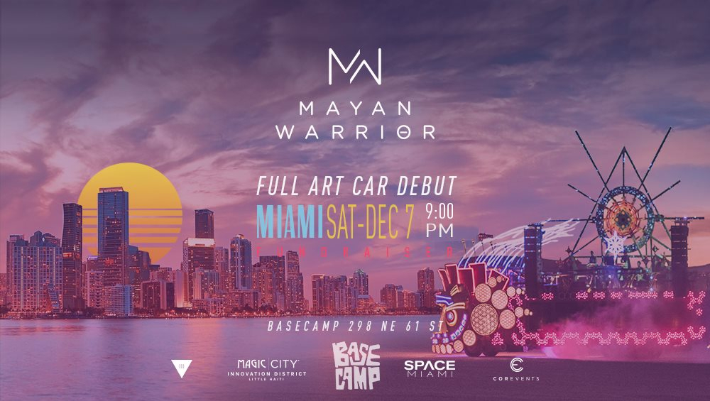 Mayan Warrior presented by III Points, Basecamp, & Space Invaders - Flyer front