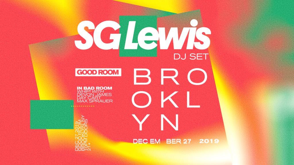 SG Lewis (DJ Set) - Flyer front