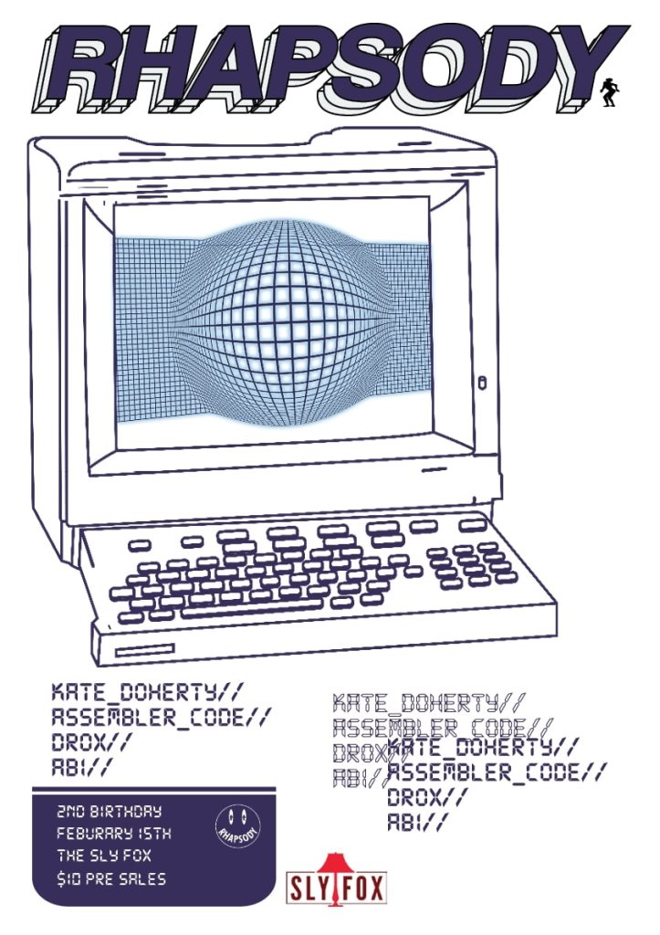 Rhapsody 2nd Birthday with K Doherty, Assembler Code, Drox and Abi - Flyer back