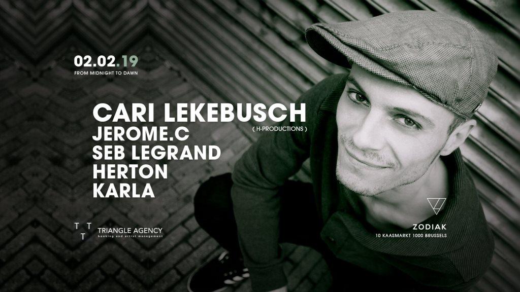 ZODIAK Hosts Cari Lekebusch, Jerome.c - Flyer front