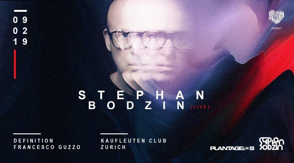 Stephan Bodzin (Live) - Flyer front