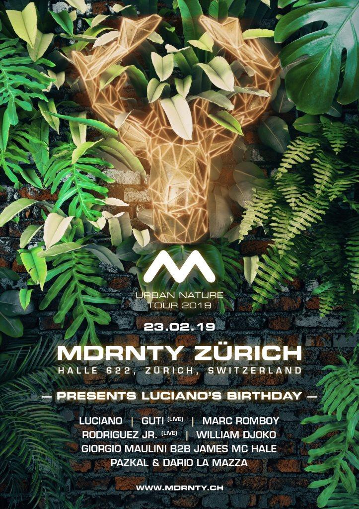 Mdrnty Zurich - Urban Nature Tour - Flyer front