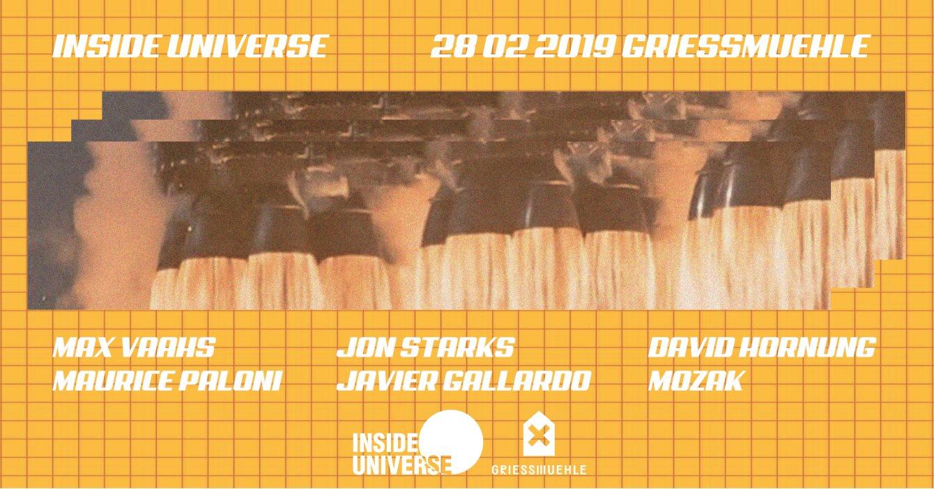 Inside Universe with Max Vaahs, Jon Starks uvm. - Flyer front