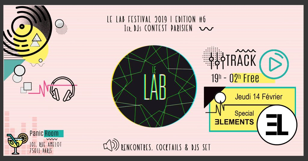 La Track Special Elements with Lab Festival 2019 - Flyer front