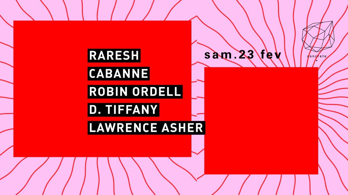 Concrete: Raresh, Cabanne, Robin Ordell - Flyer front