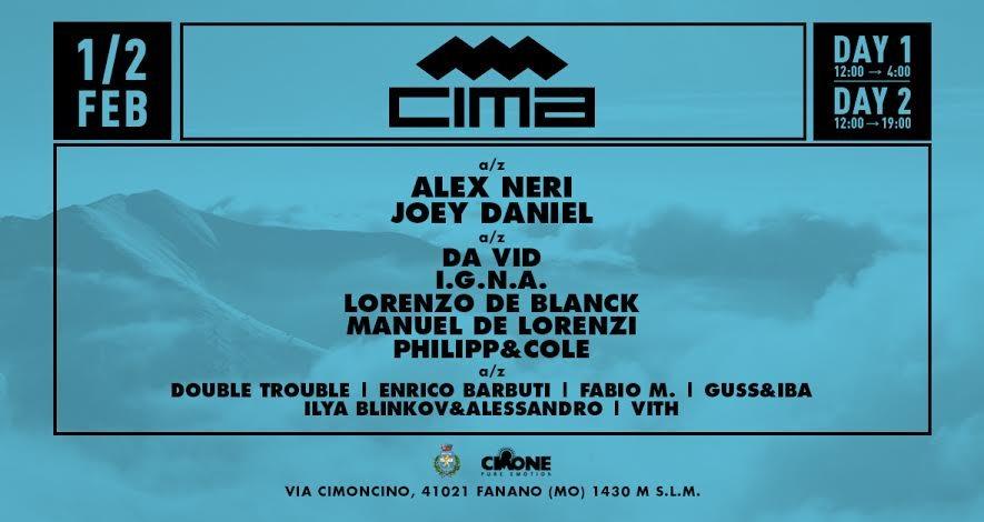 Cima Snow Festival 2020 - Flyer front