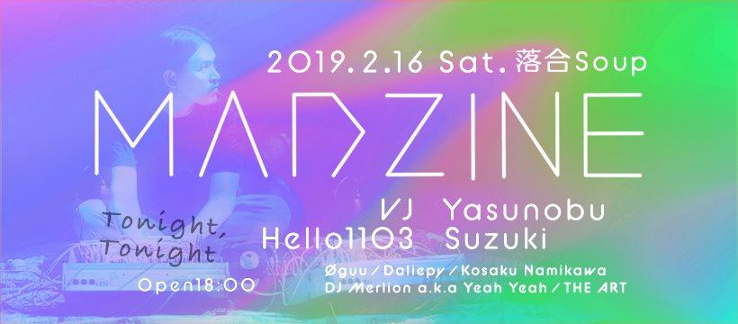 Tonight, Tonight Feat.Madzine - Flyer front
