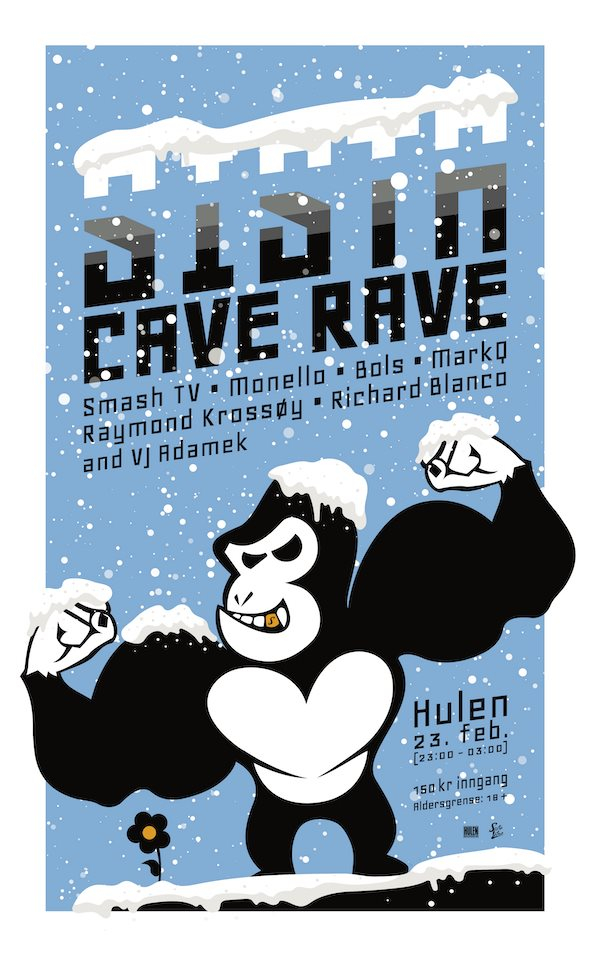 Sista Cave Rave - Flyer front