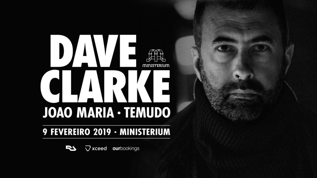 Ministerium presents Dave Clarke - Flyer front