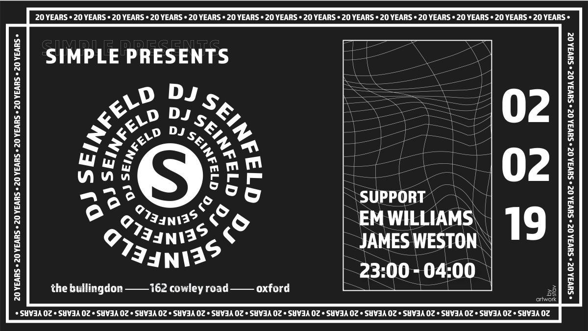 Simple presents DJ Seinfeld - Flyer front