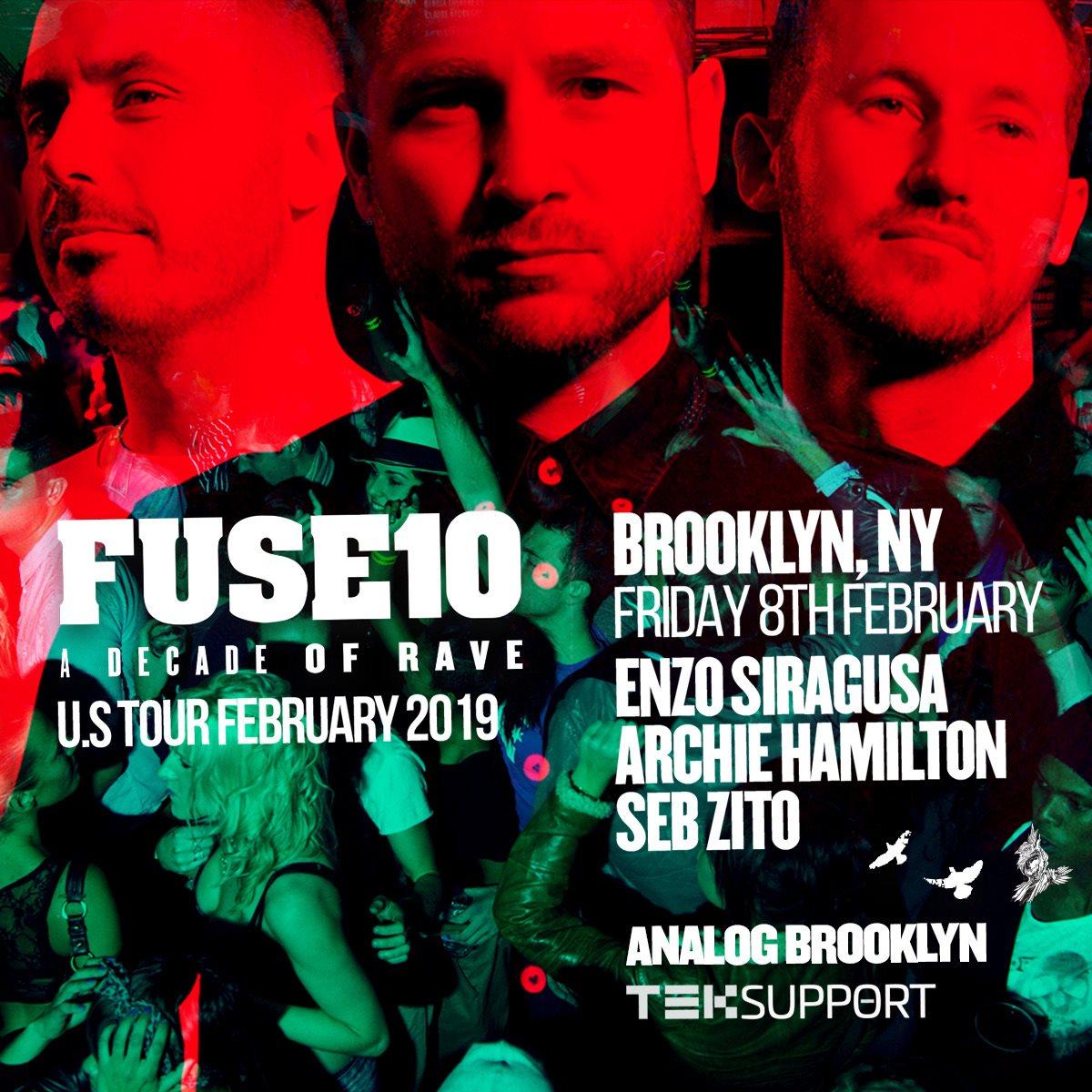 FUSE 10 Years - Brooklyn - Flyer back